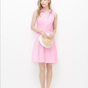 Ann Taylor Button down pink dress